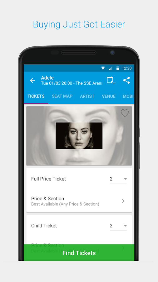 Ticketmaster IE Event Tickets- screenshot