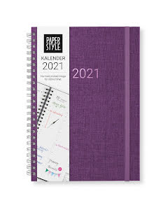 Kalender 2021 Newport vecka/vertikal Evening Purple