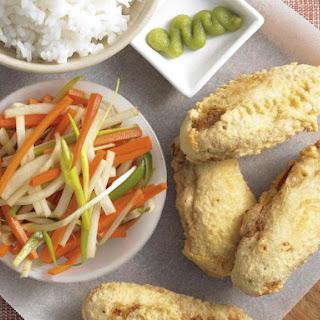 Tempura Chicken with Radish Salad.
