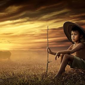 Potret Sang Gembala by Ipoenk Graphic - Digital Art People