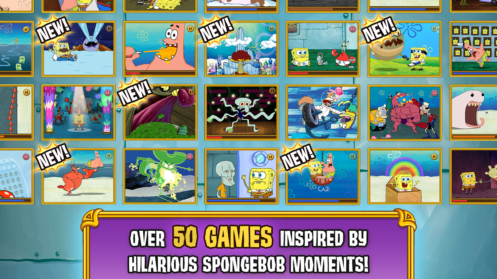 SpongeBob's Game Frenzy- screenshot