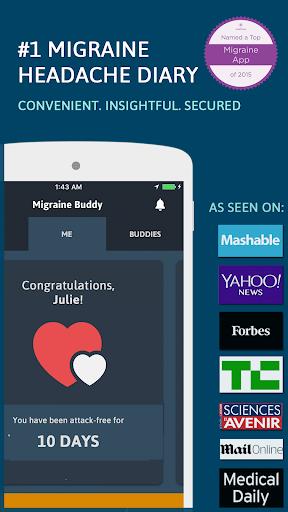 Migraine Buddy - THE Migraine and Headache tracker Screenshot