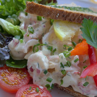 Open-faced Seafood Sandwich #SandwichRecipesWorldwide