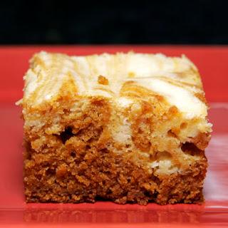 Pumpkin Cream Cheese Swirl Brownies.