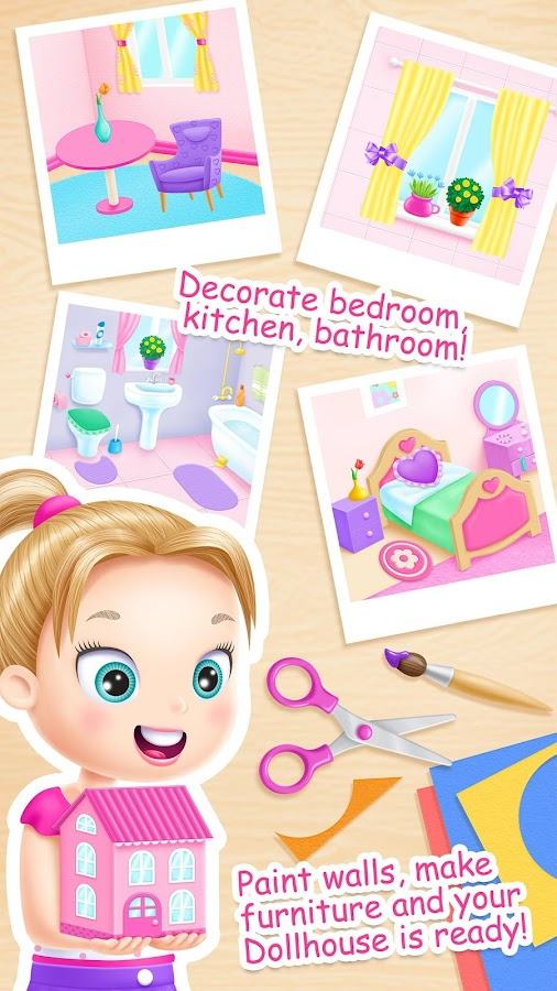Screenshots of Doll House Cleanup for iPhone