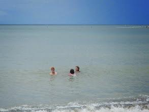 Photo: Enjoying the warm water
