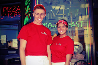 Photo: Couple Ross McClung from Scotland and Shannon Bradshaw from England  At Pino`s Pizza, Ocean City Maryland USA Summer of 2014