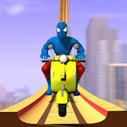 Super Hero Bike Mega Ramp icon