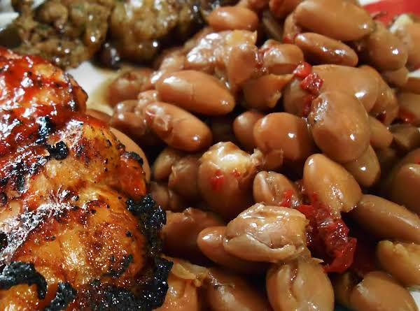 Slow Cooked Pinto Beans With Dried Chiles