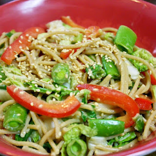 Cold Sesame Noodles And Vegetables With Peanut Sauce