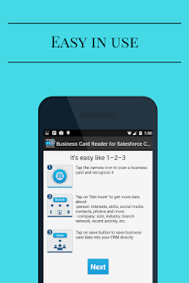 Business card reader for salesforce crm apps on google play screenshot image reheart Gallery