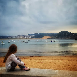 The view by Carole Sims - Babies & Children Child Portraits ( view, beach, child )