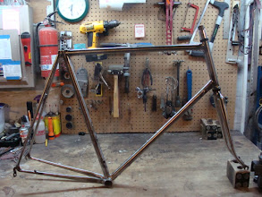 Photo: The finished frame and fork, ready for paint.