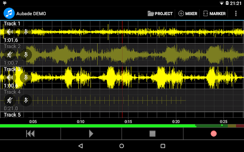 Aubade Audio Studio Screenshot