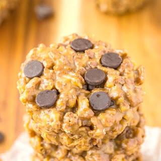 Healthy 3 Ingredient Chocolate Rice Crispy Treats.