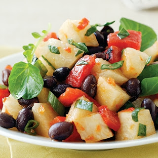 Black Bean and Jicama Salad with Roasted Pepper Dressing
