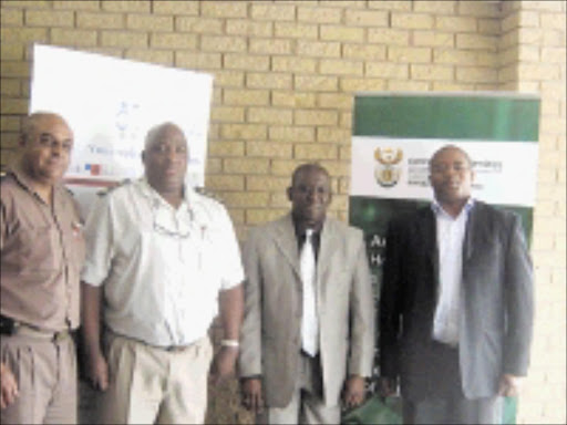 GOOD SERVICE: Officials from both Legal Aid South Africa and the Department of Correctional Services are, from left, E Korabie from Empangeni, Z Monama from Durban, Vela Mdaka and Mnikelwa Nxele. Pic. Unknown.