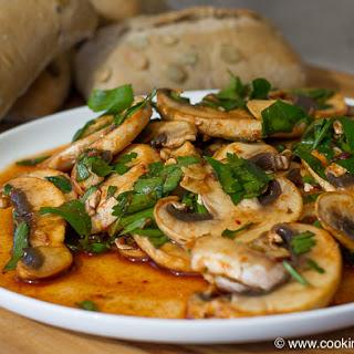 Overnight Savory Breakfast Mushrooms
