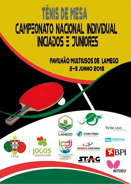 Campeonato Nacional Individual de Ténis de Mesa de sub 10 e sub 18 - Lamego