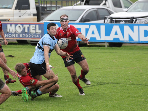 Jake Packer sets up a try in the Blue Boars' home win over Gunnedah two weekends ago.