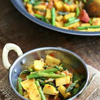 Chickpea Tofu Asparagus Curry