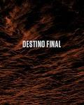 tekst Destino Final op een rood gemarmerde achtergrond