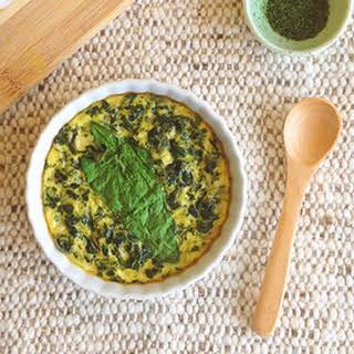 Crustless Quiche – Tofu + Spinach.