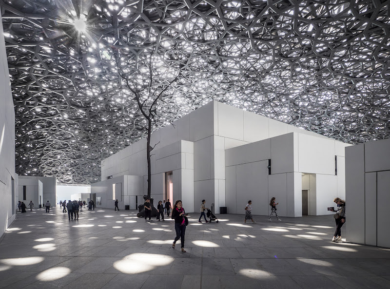 Abu Dhabi Louvre di Jean Nouvel di carcat