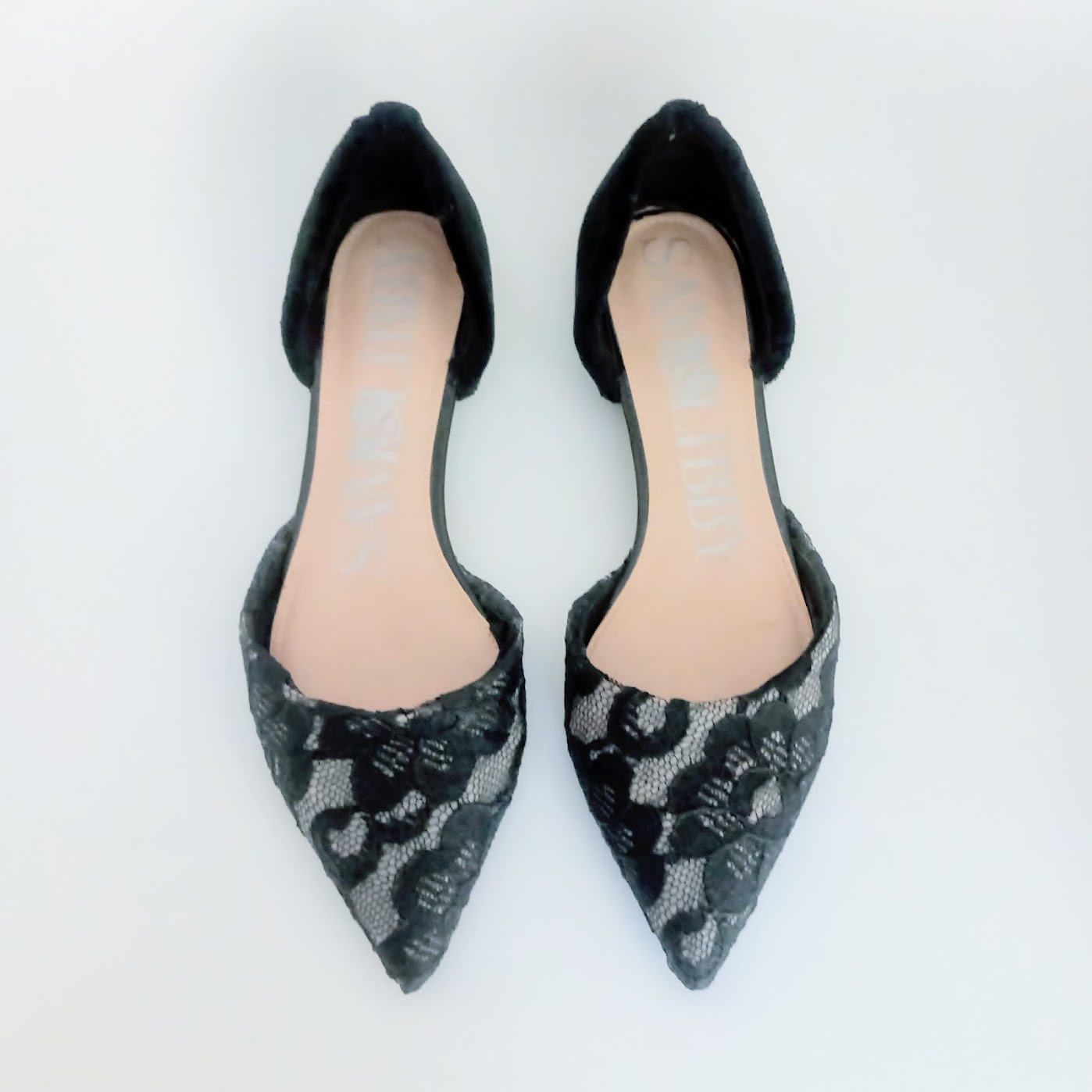 Lace Flats with Velvet Detail - DIY Fashion project | fafafoom.com