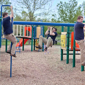 Fun At The Park by Carrie Plastow - People Portraits of Men