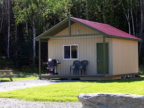 Photo: One of our four yurt camping cabins