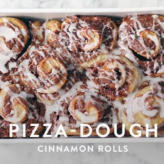 Pizza-Dough Cinnamon Rolls.