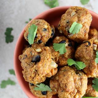 Healthy Ancho Chili Chicken Meatballs.
