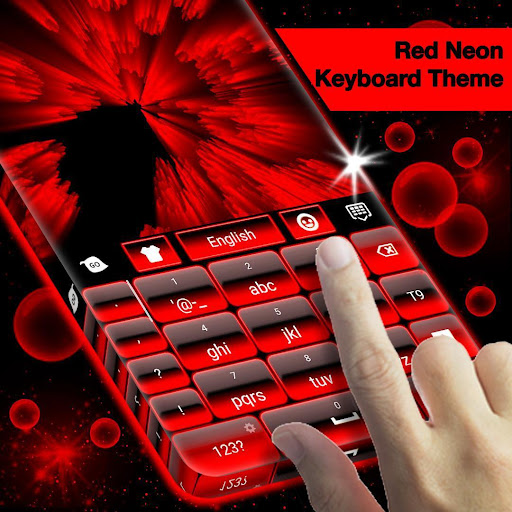 Red Neon Keyboard Theme for PC