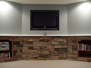 Photo: Media wall with cabinets