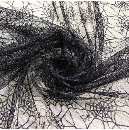 Spindel Glitternät - svart