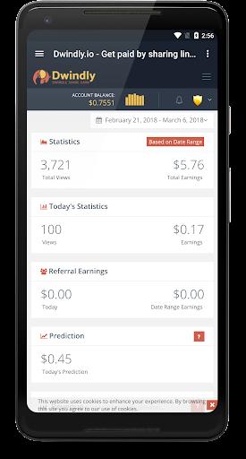Dwindly.io - Earn Money By Sharing Links! 1.1 screenshots 3
