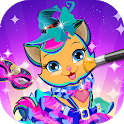 My pet cat costumes, dressup & care icon