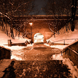 night in the park by Patrik Voicu - City,  Street & Park  City Parks ( city, night, stairs, park )