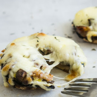 Loaded Cheesy Portobello Mushrooms.