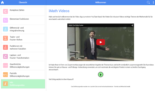 Mathe-Videos zum Studium (iMath Video)- screenshot thumbnail