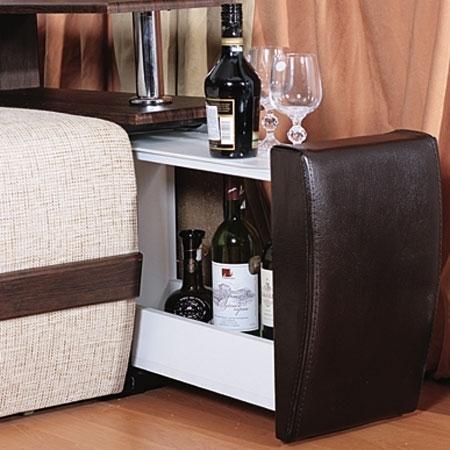 Угловой диван с выдвижным ящиком