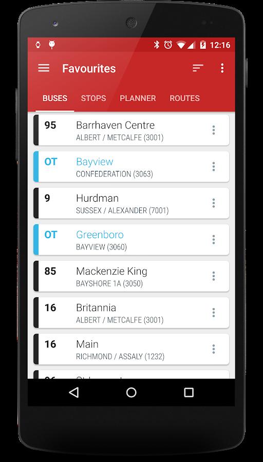 Ottawa Transit- screenshot