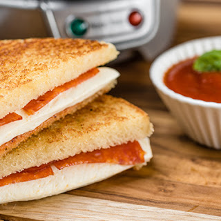 Grilled Pepperoni Pizza Sandwich.