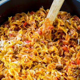 One-Pot Sloppy Joe Noodle Skillet