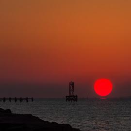 Texas City Dike. by Triet Le - Landscapes Sunsets & Sunrises