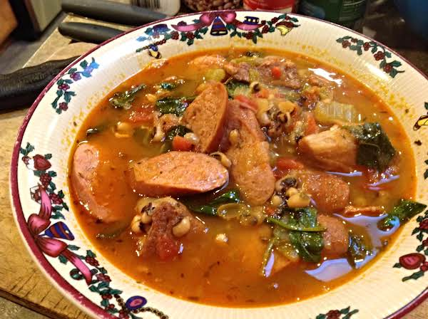 Hearty- Meaty Black Eye Pea Soup