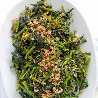 Rapini with Lemon and Hazelnuts.