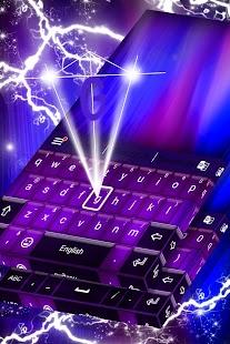 Purple Black Theme Keyboard - náhled