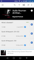 Screenshot of Nouman Ali Khan Lectures